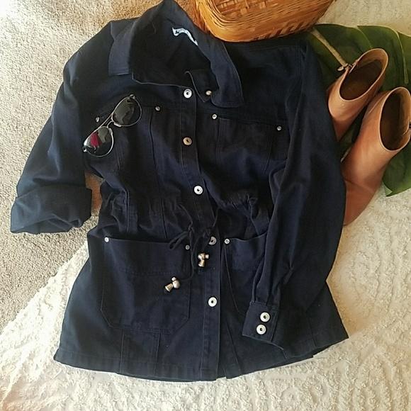Marsh Landing Jackets & Blazers - Navy blue anorak jacket